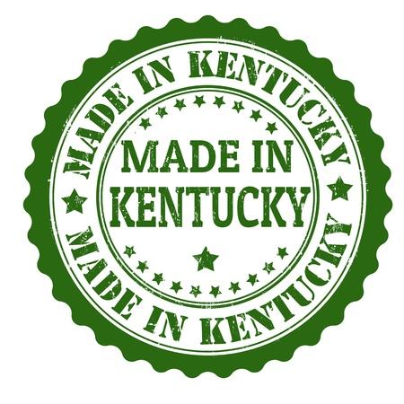 kentucky: Made in Kentucky grunge rubber stamp, vector illustration