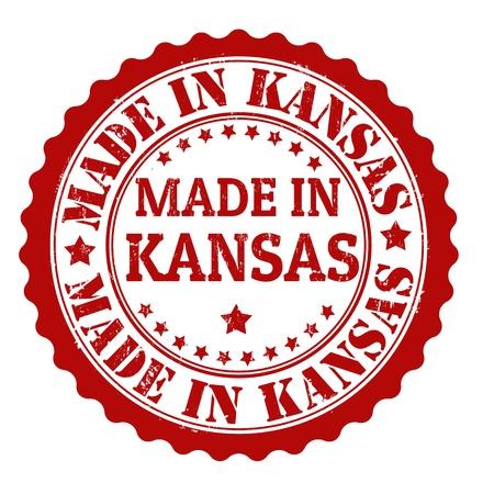 Made in Kansas grunge rubber stamp, vector illustration Stock Vector - 21854245
