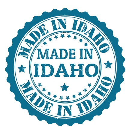 Made in Idaho grunge rubber stamp, vector illustration Stock Vector - 21847811