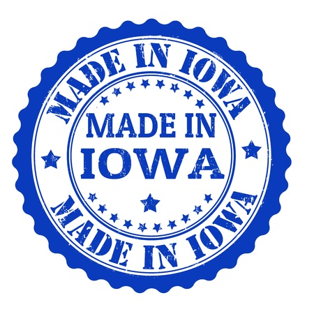 Made in Iowa grunge rubber stamp, vector illustration Stock Vector - 21847813