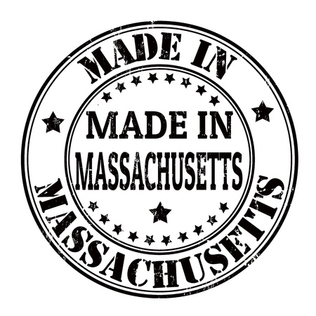 Made in Massachusetts grunge rubber stamp Vector