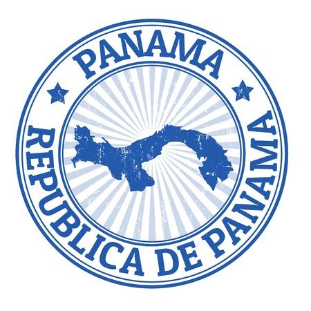 Tampon en caoutchouc grunge avec le nom et le plan de Panama, illustration Banque d'images - 21948030