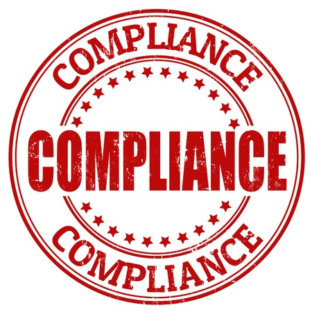 Compliance grunge rubber stamp, vector illustration