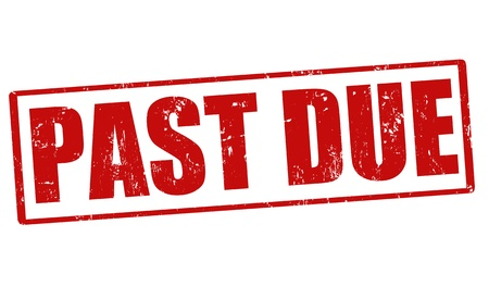 past due: Past due grunge rubber stamp, vector illustration
