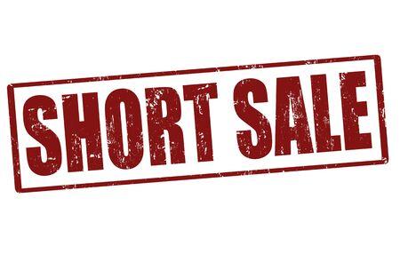 short sale: Short sale grunge rubber stamp, vector illustration