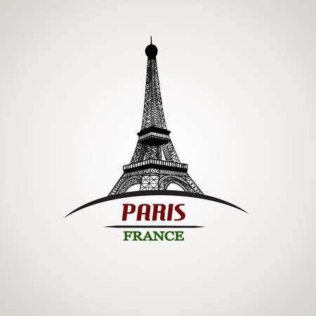 Paris in vitage style poster, vector illustration Stock Vector - 22068920