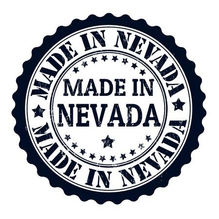 Made in Nevada grunge rubber stamp, vector illustration Vector