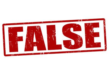 falso: Falso sello de goma del grunge en blanco, ilustración vectorial
