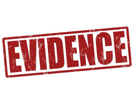 evidences: Evidence grunge rubber stamp on white, vector illustration