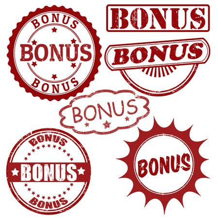 Set of bonus grunge rubber stamps, vector illustration