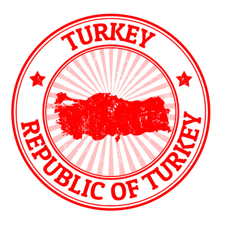 Grunge rubber stamp with the name and map of Turkey, vector illustration Stock Vector - 22200444
