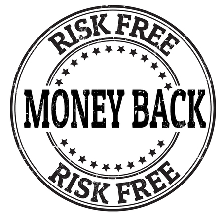 Money back, risk free grunge rubber stamp on white, vector illustration Vector