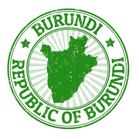 burundi: Grunge rubber stamp with the name and map of Burundi