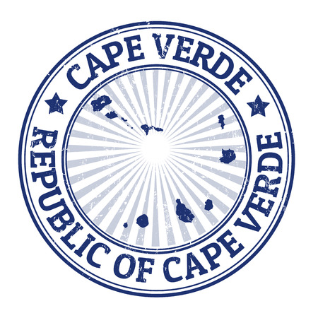 cape verde: Grunge rubber stamp with the name and map of Cape Verde  Illustration