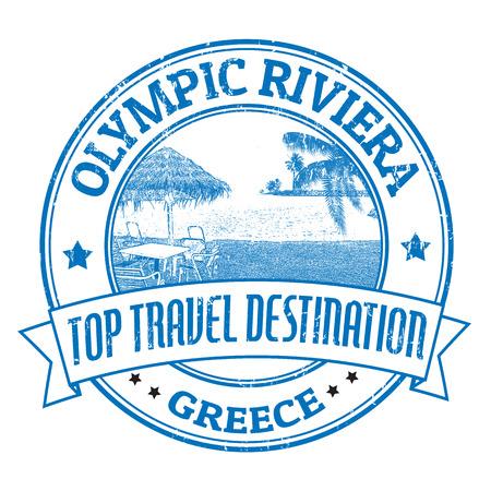 deckchair: Grunge rubber stamp with the text Top Travel Destination