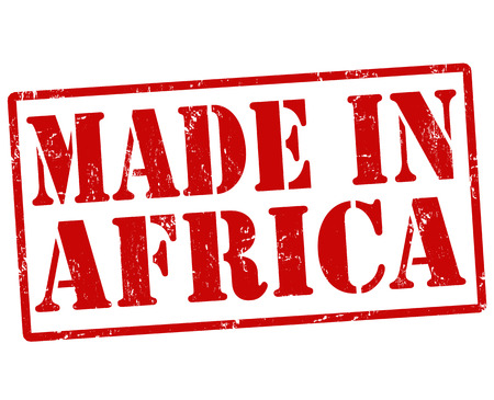 exported: Made in Africa grunge rubber stamp on white, vector illustration Illustration
