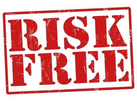 Risk Free: Risk free grunge rubber stamp on white, vector illustration Illustration