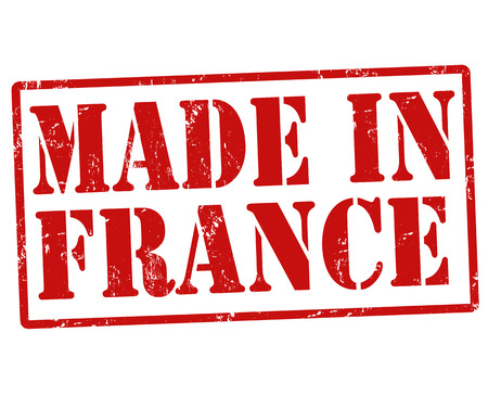 build in: Made in France grunge rubber stamp on white, vector illustration