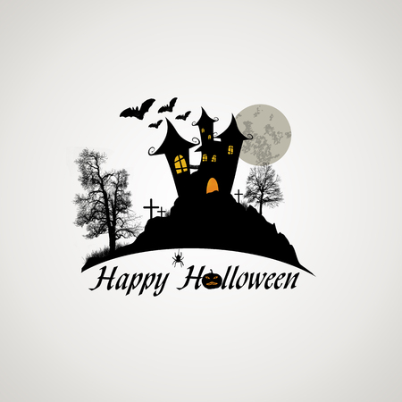 Happy Halloween design poster, illustration Vector