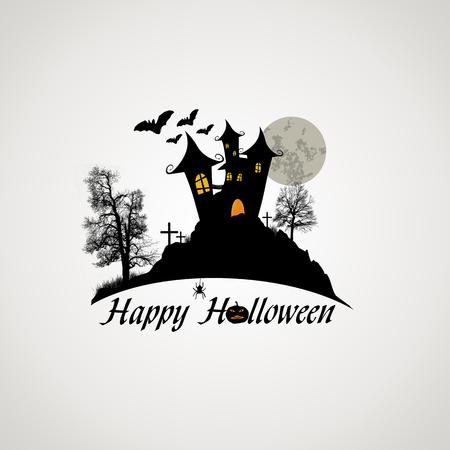 dynia: Szczęśliwy projekt Halloween plakat, ilustracja