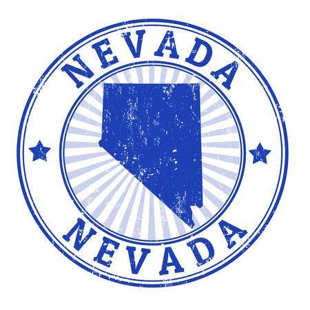 nevada: Grunge rubber stamp with the name and map of Nevada , illustration Illustration