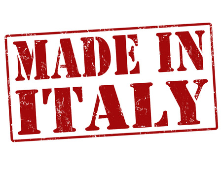 made in italy: Made in Italy grunge rubber stamp on white