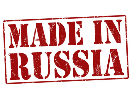 Made in Russia grunge rubber stamp on white Vector