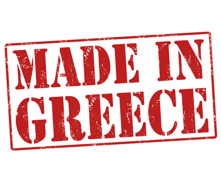 Made in Greece grunge rubber stamp on white, illustration Stock Vector - 22465314