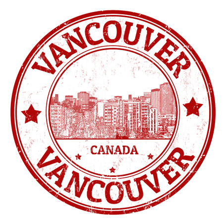 밴쿠버, 캐나다의 도시, 그림의 이름을 가진 빨간 그런 지 도장