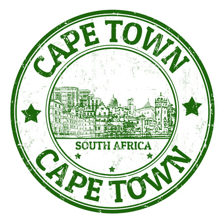 populous: Grunge rubber stamp with the name of Cape Town, a city from South Africa written inside, illustration