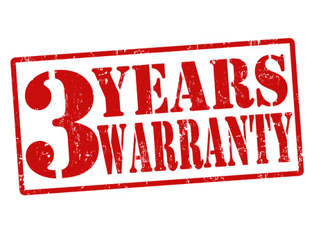 3 Years Warranty grunge rubber stamp on white, illustration Stock Vector - 22465382