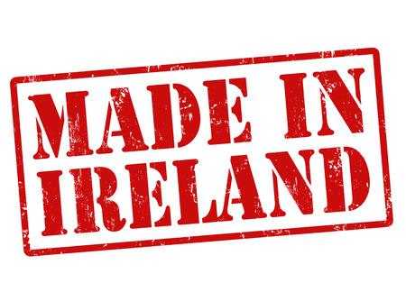 northern ireland: Made in Ireland grunge rubber stamp on white, illustration Illustration