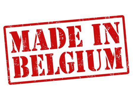 Made in Belgium grunge rubber stamp on white, illustration Illustration