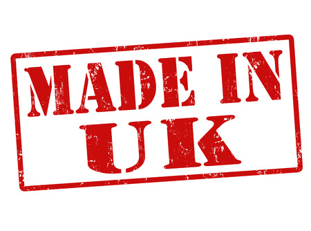 Made in UK (United Kingdom) grunge rubber stamp on white, illustration Vector