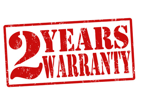 2 Years Warranty grunge rubber stamp on white, illustration Stock Vector - 22465412