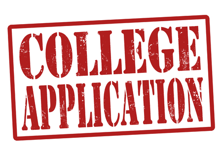 College Application grunge rubber stamp on white, vector illustration Stock Vector - 22545337