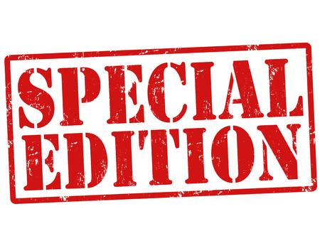 edizione straordinaria: Edizione speciale grunge timbro di gomma su bianco, illustrazione vettoriale Vettoriali