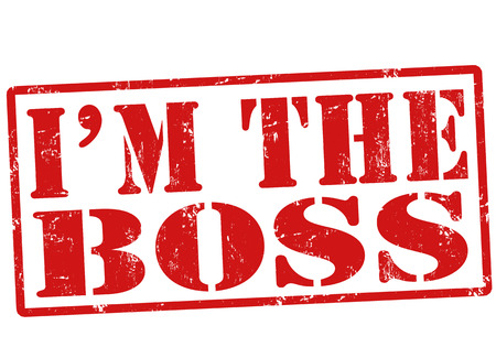 bossy: I am the boss stamp