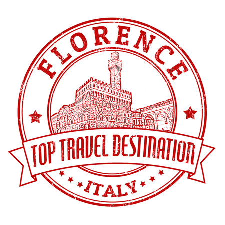 florence   italy: Top travel destination grunge rubber stamp with the word Florence, Italy inside, vector illustration Illustration