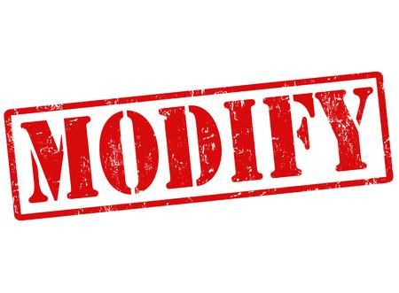 modify: Modify grunge rubber stamp on white, vector illustration