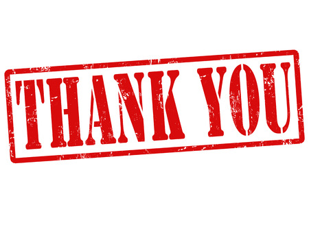 Thank you grunge rubber stamp on white, vector illustration Stock Vector - 22591011