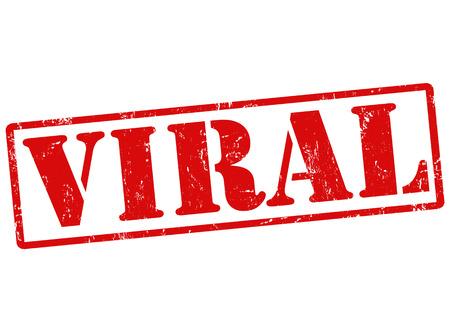 viral infection: Viral grunge rubber stamp on white, vector illustration