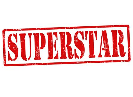 Superstar grunge rubber stamp on white, vector illustration Stock Vector - 22591058