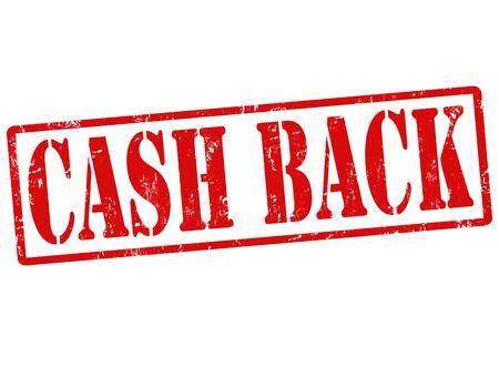 cash back: Cash back grunge rubber stamp on white, vector illustration
