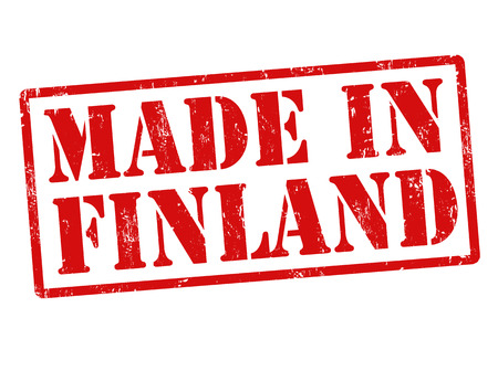 manufactured: Made in Finland grunge rubber stamp on white, vector illustration Illustration