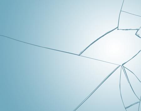 cristal roto: Ventana rota textura de fondo, ilustración vectorial