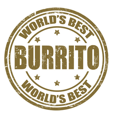 burrito: Grunge rubber stamp with the word Burrito written inside the stamp