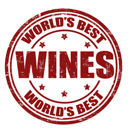 wines: Grunge rubber stamp with the word Wines written inside the stamp Illustration
