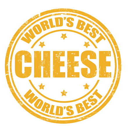 seasoned: Grunge rubber stamp with the word Cheese written inside the stamp Illustration