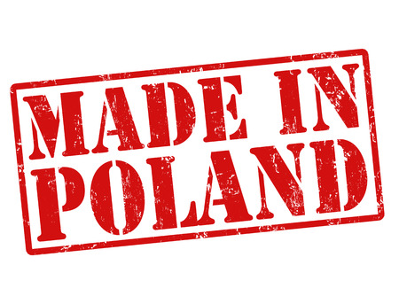Made in Poland grunge rubber stamp on white, vector illustration Vector